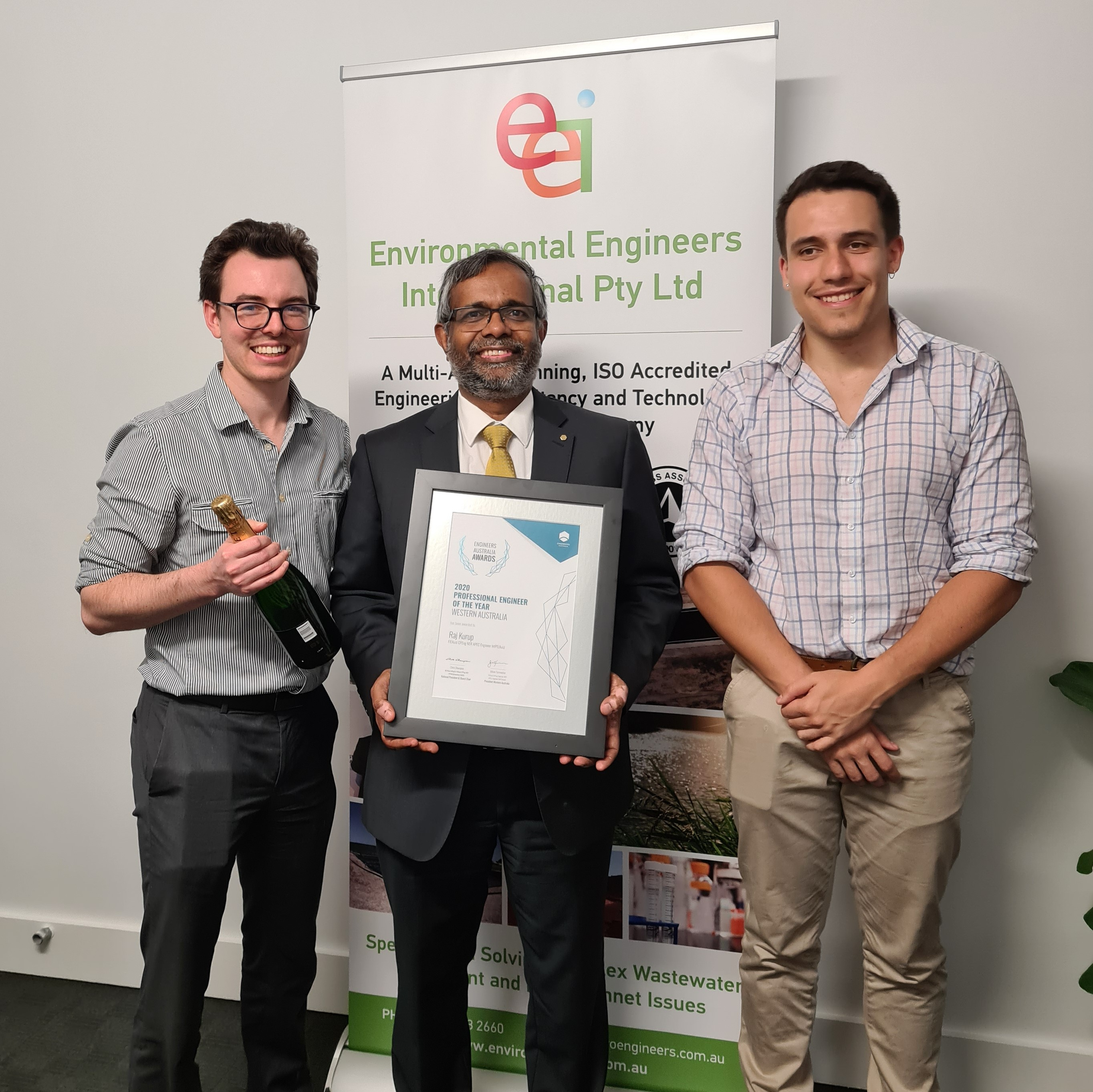 EEI CEO Dr. Raj Kurup wins the Engineers Australia 2020 Professional Engineer of the Year Award for Western Australia